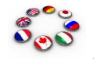 Cercle formé de drapeaux nationaux