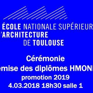 Cérémonie  remise des diplômes HMONP promotion 2019