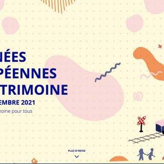Journées européennes du patrimoine  18 et 19 septembre 2021  sur le thème : Patrimoine pour tous